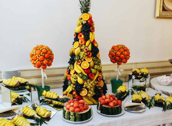 des fruits. réalisation pour une reception dans le var